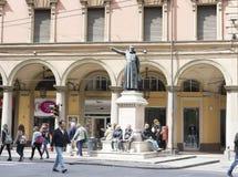 Ugo Bassi statue in Bologna, Italy Stock Photos