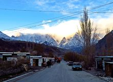 ugoda, Karakoram autostrada, wysoka międzynarodowa autostrada, Pakistan obrazy stock
