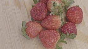 Ugraded materiał filmowy organicznie truskawkowa owoc zbiory