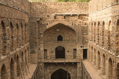Ugrasen Ki Baoli, India Fotografia Stock