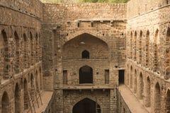 Ugrasen Ki Baoli, Indien Arkivbild