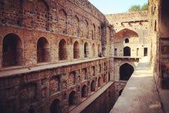 Ugrasen Ki Baoli. Very good saved well-step in the centre of Delhi royalty free stock photos