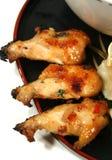ugryzł kurczaka zdjęcie stock