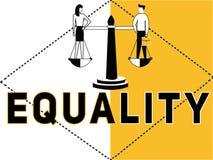 Uguaglianza creativa e la gente di concetto di parola che fanno le attività illustrazione di stock