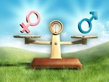Uguaglianza del sesso illustrazione di stock