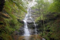 Uguna waterfall, Gorbea Natural Park, Spain. Uguna waterfall, Gorbea Natural Park, Vizcaya, Spain stock images