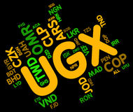 Ugx Currency Indicates Forex Trading And Banknote Royalty Free Stock Photos