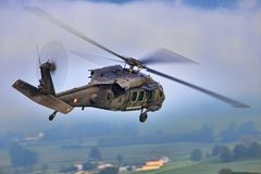 UH-60黑色鹰 免版税图库摄影