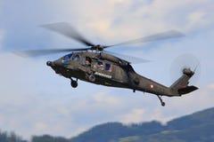 UH-60黑色鹰 库存照片