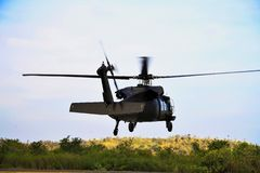 UH-60 Black Hawk Helicopter flying stock images