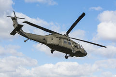 UH-60 Black Hawk helicopter flying Sweden Stock Photos