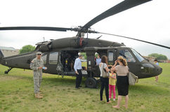 UH-60 Blackhawk Helicopter display Stock Image