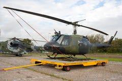 UH-1D Huey直升机 免版税库存照片