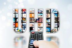 UHD超高定义4K, 8K电视技术 免版税库存图片