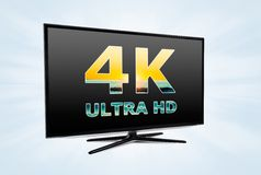 UHD digital television screen technology Royalty Free Stock Photography
