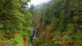 UHD 4k Time Lapse Movie of Metlako Falls in Eagle Creek along Columbia River Gorge in Oregon 4096x2304 stock footage