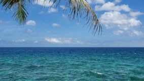 UHD shot of the tropical sea scenery. UHD shot of the peaceful tropical sea with a lot of useful copy-space stock video footage