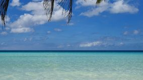 UHD shot of the tropical seascape. Turquoise waters of the tropical sea in UHD stock footage