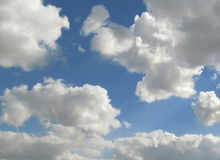 UHD timelapse of blue summer sky with running. Clouds stock footage