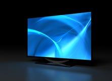 UHD TV on Dark Royalty Free Stock Images