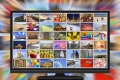 UHDTV broadcasting stock image
