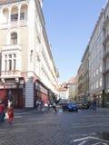 Uhelný trh Street, Prague. Uhelný trh Street in Prague. Prague is the capital and largest city of the Czech Republic. It is the 14th largest city in the Royalty Free Stock Images