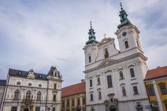 Uherske Hradiste em República Checa foto de stock royalty free