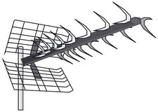 UHF Yagi antenna Stock Photo