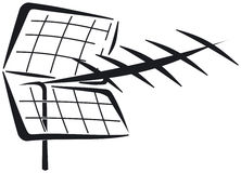 UHF Yagi antenna Royalty Free Stock Photo