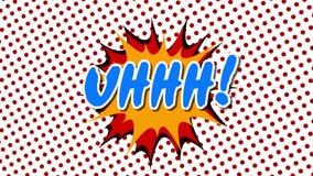 UHHH - анимация стиля воздушных шаров речи слова шуточная бесплатная иллюстрация