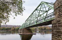 Uhlerstown-Frenchtown Bridge Delaware River Stock Photos
