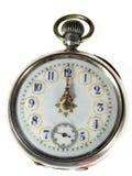 Uhr über Weiß lizenzfreie stockfotos