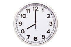 Uhr, acht O-Uhr Stockbild