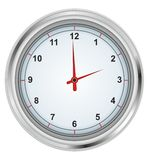 Uhr auf einem weißen Hintergrund vektor abbildung