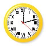 Uhr auf einem weißen Hintergrund Stockbild