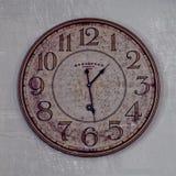 Uhr auf Glas Lizenzfreies Stockfoto