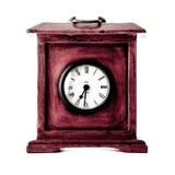 Uhr auf weißem Hintergrund Lizenzfreies Stockfoto