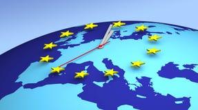 Uhr 3D der Europäischen Gemeinschaft stock abbildung