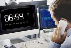 Uhr-Dauer-Zeit-Mußestunde-Konzept Stockfoto