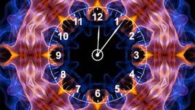 Uhr in den Fasern, Zeit-Konzept, Computer-Animation stock abbildung