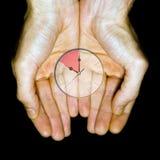 Uhr in den Händen Lizenzfreie Stockfotografie