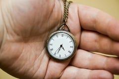 Uhr in der Hand Lizenzfreie Stockfotografie