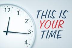 Uhr an der Wand Lizenzfreies Stockbild