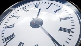 Uhr in der Zeitversehenschleifenreihenfolge stock video