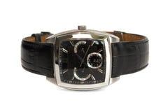 Uhr des Mannes mit dem Gurt getrennt auf dem Weiß Stockfotos