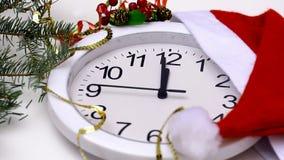 Uhr des neuen Jahres stock footage