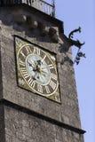 Uhr des Stadtturm Stockbilder