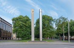 Uhr Estlands Tallinn der Freiheit stockfotografie