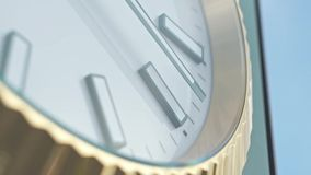 Uhr-Extrem-Abschluss oben stock video