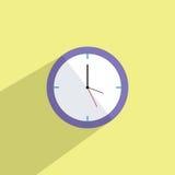 Uhr-flache Ikonen-Vektor-Illustration vektor abbildung